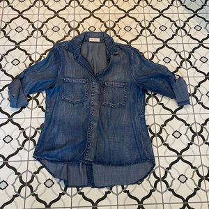 bella dahl split back denim shirt Medium